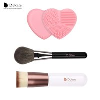 Wholesale Hair Items - Ducare Foundation Brush + Powder Brush + Brush Clean 3pcs Item Hot Makeup Brushes Daily Makeup Essential Beauty Makeup Tools