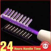 Wholesale hair remover kit - Mychway Portable High Frequency Therapy Darsonval Spot Acne Remover Face Hair Body Skin Care Spa Beauty Device Machine kit Red light