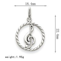 Wholesale Macrame Charms - Zinc Alloy Rhodium and Gold Plated Round Macrame Music Note Pendant Charm For Bracelet Making 50 pcs a lot