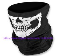 Wholesale Wholesale Sports Scarfs - DHL Free shipping 100pcs Skull Design Multi Function Bandana Ski Sport Motorcycle Biker Scarf Face Masks Outdoor Facial Mask Black Color