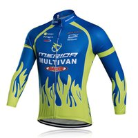 Wholesale Cycling Merida Long - MERIDA Tour de France cycling jersey pro team Men\'s long sleeves shirt quick dry bicycle clothing mtb bike maillot ropa ciclismo C0126