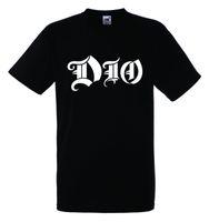 Wholesale Rock Band Sale - DIO LOGO Black New T-shirt Rock T-shirt Rock Band Shirt 2018 New Summer Men Hot Sale Fashion