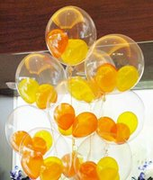 Wholesale Giant Latex Free Balloons - 36 Inch clear transparent Helium Inflable giant latex balloon For Wedding Birthday Party Decorations supplies free shipping