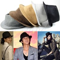 Wholesale Straw Mens Trilby Hats - Wholesale-Free Shipping Fashion Mens Women Unisex Casual Fedora Hat Trilby Straw Panama Beach Sun Cap