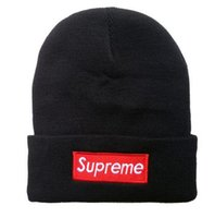 Wholesale Wool Beanies Snapback Hat - Winter Hats Sports Outdoor Beanie Hat Casual Skullies Brand Knitted Wool Hip-Hop Hats For Men And Women Snapback