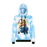 Wholesale Outwear Print Woman - L0101 Alisister cute cartoon anime pullovers Small Yellow People 3d print hoodies sweatshirt men women hooded tracksuit tops outwear
