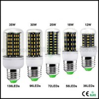 Wholesale Smd Led Light Spot E27 - Ultra Bright E27 E14 GU10 G9 12W 18W 25W 30W 35W Led Lights SMD 4014 Led Corn Light AC110V 220V Lamp Corn Bulb 360 degree Spot Light LLWA025