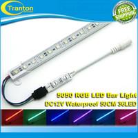 ingrosso tubo principale della lampada mini-All'ingrosso-50cm 36led 5050 impermeabile RGB LED Bar luce rigida lampada tubo lampadina 12V con 3 chiave mini controller, 1PCS / lotto