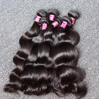 productos para el cabello mixtos al por mayor-100% Brasileño Body Wave Queen Productos para el cabello Extensión del cabello Onda del cuerpo Color natural 4 unids / lote Longitud de la mezcla El cabello teje la trama 8 ~ 30 Bella Hair