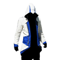 ingrosso assassini creed iii giacca-Fall-Assassins Creed 3 III Conner Kenway Edward Uomini Hoodie Jacket Costume Videogioco Cosplay Novità Patchwork Cappotto Plus Size 5XL