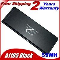 """Wholesale Macbook A1181 Battery White - Free shipping- Laptop Battery For apple MA566 A1185 MA566FE A MA566G A MA566J A MacBook 13"""" A1181 MA472 MA701 White"""