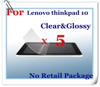 Wholesale Clear Screen Protector Film Screen Guard for Lenovo thinkpad tablet PC inch Tablet PC