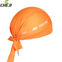 Wholesale Scarves Men Professional - Wholesale-bufanda de bicicleta CheJi Professional Sports Cycling Headband Solid Color MTB Headscarf Quick Dry Cycling Bandana Scarf G008
