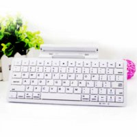 Ultra-Slim Wireless Keyboard Bluetooth ficar para o iPhone 4S 5 iPad New 5S Samsung Galaxy S5 Laptop PC desktop Branco