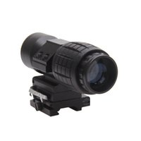 Funpowerland Tactical 3x Magnifier Scope устанавливает Flip To Side Быстродействующий 20-мм рельс