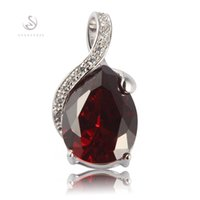 jewelry classes 2018 - Favourite Classic Fashion jewelry Silver Plated Red Cubic Zirconia Pendants R840 First class products Recommend Promotion Favourite