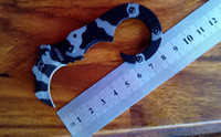 Wholesale Mtech Knives Wholesale - (2pcs lot)free shipping!new hot sale claw karambit knife, MTech tiger patterns small hippocampusb blade material 440