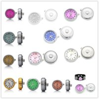 Wholesale Watch Necklace Charms - Fashion NOOSA 18 20mm Interchangeable Snap Watch Button Charms fit DIY Snaps Button bracelets Necklace Jewelry Accessory