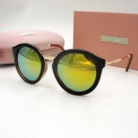 Wholesale Vintage Colorful Box - 2016 lady luxury brand designer vintage sunglasses women points sun with box driving sunglasses women colorful lens glasses