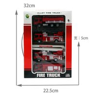 Wholesale Cars Discount Toys - Wholesale-Discount 4pc lot 1:64 alloy fire truck, Wheel Toys, model cars, children's gifts, Water tanker ,Ladder truck,free shipping