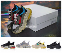 Wholesale Men S Boots Brands - Luxury Brand Triple S Shoe Speed Trainer Running Shoes Quality Sneakers Speed Sneakers Trainer Race Runners Shoes mans women Sport Boots