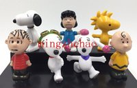 Wholesale Peanuts Christmas Figures - New Sale 2015 Set   7 PCS The Peanuts Movie Charlie Brown Peanuts Collectors Figure Set Toy Snoopys Christmas Gift