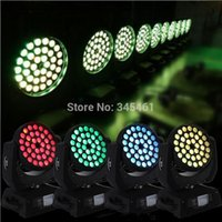 Wholesale-4pcs alta potencia 36 * cabeza móvil Wash LED luz del disco 10W RGBW 4IN1 de Multi-Color LED de 110 / 220v de pie libre LED Luz de la etapa de DJ de la lámpara