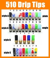 Wholesale Drip Dips - Driptips 510 drip tips electronic cigarettes mouthpiece China style dipped finish colorful drip tip fit rda penny rba subtank 2015 FJ208