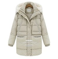 Wholesale Girl S Long Coat Down - Wholesale-Girls 2015 new winter coat women jacket and long sections military dress down jacket wholesale trade Free shipping