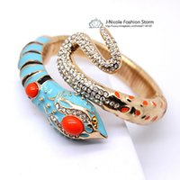 Wholesale Anna Russo - 2013 New fashion Anna dello russo blue snake exaggerated bracelet bangles jewelry ,free shipping