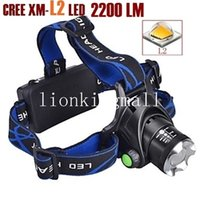 Wholesale Headlight Lumens - AloneFire HP79 CREE XM-L2 LED 2200 Lumens Rechargeable Zoom Headlight LED Headlamp CREE For 2x18650 Battery