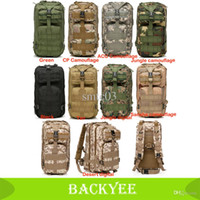 Wholesale Cp Camouflage - Wholesale-2015 NEW 3P Outdoor Military Tactical Rucksack Hiking Hunting Camping Backpack Trekking Bag 600D Nylon Green Tan CP Camouflage