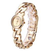 Wholesale Wristwatches Chain - Wholesale-Top Brand Luxury Fashion Chain Bracelet Watch Women Quartz Wristwatch Ladies Dress Watch Reloj Mujer Montre Femme Horloge WY490
