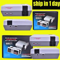 Wholesale Handheld Game Dhl - New Arrival Mini TV Video Handheld Game Console Entertainment System Built-in 500 600 620 Classic Games for NES Games PAL&NTSC DHL OTH732
