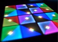 barra de piso al por mayor-LED RGB Panel Dancing Dance Floor Control de voz Stage Light KTV Bar Party Disco DJ Club 720pcs efecto LED Color cambiante Luces de piso