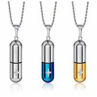 змеиная бутылка духов оптовых-LilyPill флакон духов урна подвески ожерелья с крестом шаблон кремации ювелирные изделия с змея цепи ожерелье с подарочная сумка