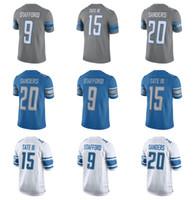 38f0a3343 2017 Detroit Lion Jersey Elite 15 Golden Tate III 20 Barry Sanders 9  Matthew Stafford Shirts New Blue Cheap Mens Stitched Football Jerseys ...