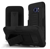 Wholesale Future Skin - Heavy Duty Future Armor Rugged Belt Clip Hybrid Kickstand Case For Samsung Galaxy S7 S7 Edge Cover Skin Shockproof