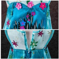 Atacado-2015 Fancy Dresses Hot New Girls Frozen Fever Elsa Princesa Cosplay Partido