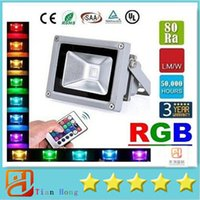Wholesale Waterproof Color Changing Flood Light - Led Flood Light RGB 10W 20W 30W Led Floodlights Waterproof Led Outdoor Lights Color Changing Memory Function AC 85-265V + Remote Control