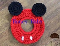 Wholesale Toy Camera Case - Customized Mickey Minnie Camera Case Cover SLR Camera Lens Buddies Len Baby Crochet Knitted Baby Toys Newborn Photographer Shutter Buddies