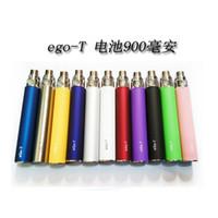Wholesale Ego Vv X6 - Hot Ego t eGo-T Battery E Cigarette 650mAh 900mAh 1100mAh vs ego c twist VV ego w x6