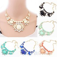 Wholesale Bubble Bib Fashion - Women Fashion Mixed Style Irregular Bubble Bib Choker Statement Necklace