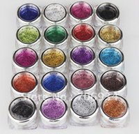 Wholesale Christmas Art Paint - 20pcs lot 19 color Pro Body Painting Tattoo Glitter Diamond Santorum For Body Art