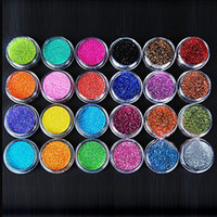 Wholesale Nail Art Glitter 24 - 1set  lot Metal Shiny Glitter UV Powder Nail Art Kit Acrylic Dust Set 24 Color Free Shipping 600271