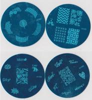 nagelstempelplatte geben verschiffen frei großhandel-10000 Stücke Bule m-serie Bild Platte Mix Design 5,6 cm Stamping Nail art Platte 100 Designs Vorlage DHl Kostenloser Versand # 147