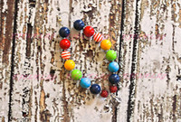Wholesale Rainbow Chunky Necklace - Rainbow Chunky Beaded Necklace..Chunky Necklace..Childrens Necklace..Pearl Necklace..Photo Prop CB138