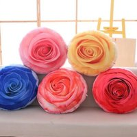 Wholesale Kids Flower Pillow - 35cm Creative Removable Washable Simulation Flower Double-sided Printed Plush Pillow Toy Stuffed Sofa Cushions Kids Xmas Gift CCA8262 50pcs