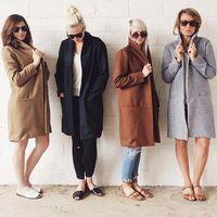 Wholesale Cheap Womens Jackets Coats - 2016 cheap Winter New Ladies Casual Long Jackets Warm Womens Slim Coat Outwear TOP casual Cardigan