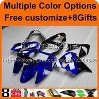 23colors + 8Gifts BLUE carena in acciaio ZX9R 2000 2001 Carena motociclistica Ninja per KAWASAKI